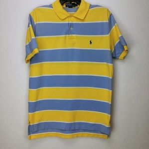 Polo by Ralph Lauren yellow blue and white striped